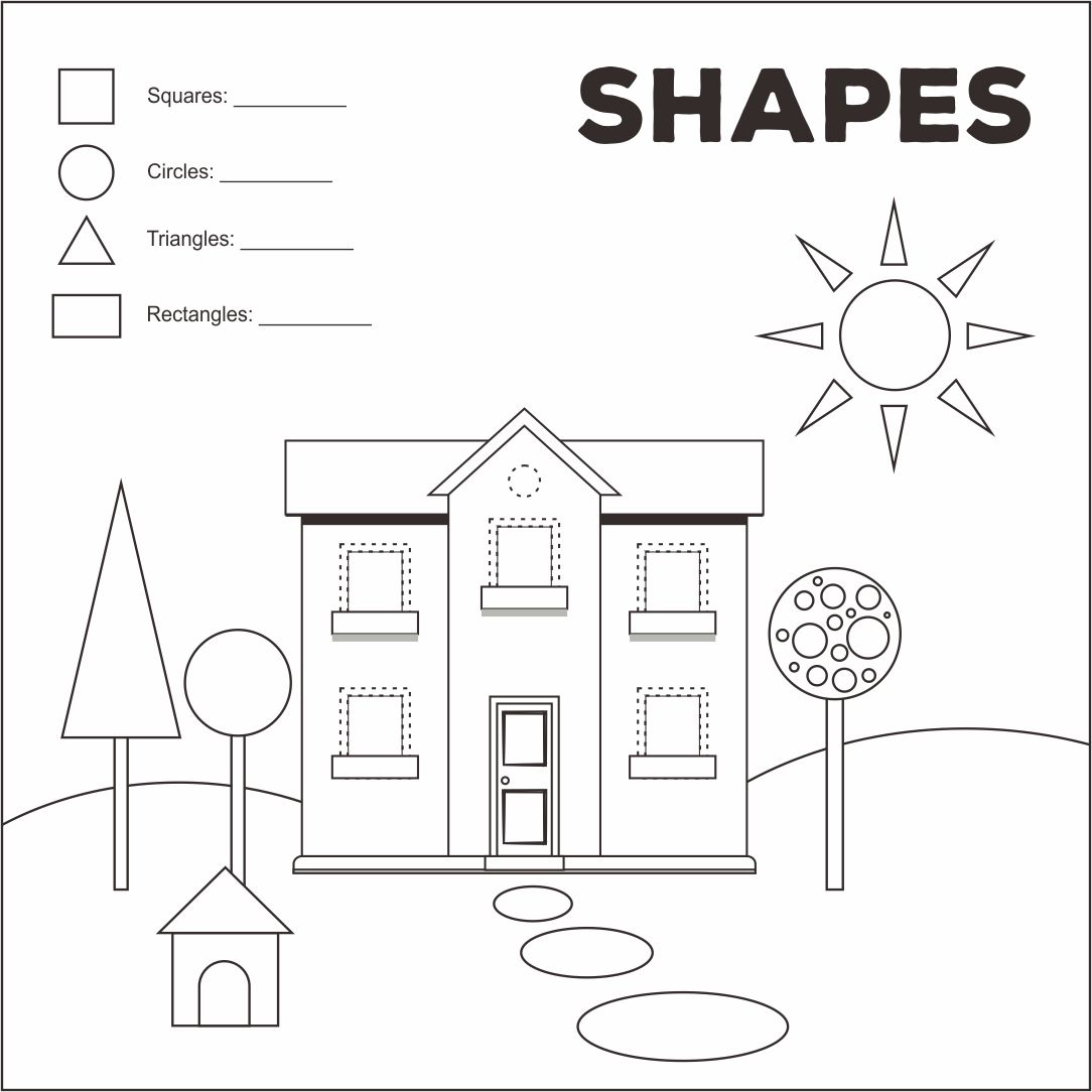 5 Best Images Of Shape Worksheets Printable Houses