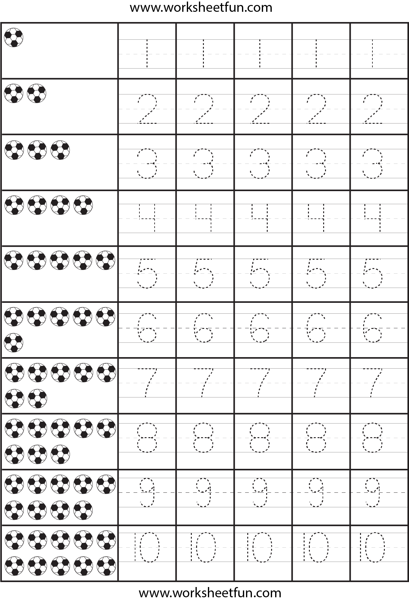 7 Best Images Of Traceable Numbers Worksheets Printable