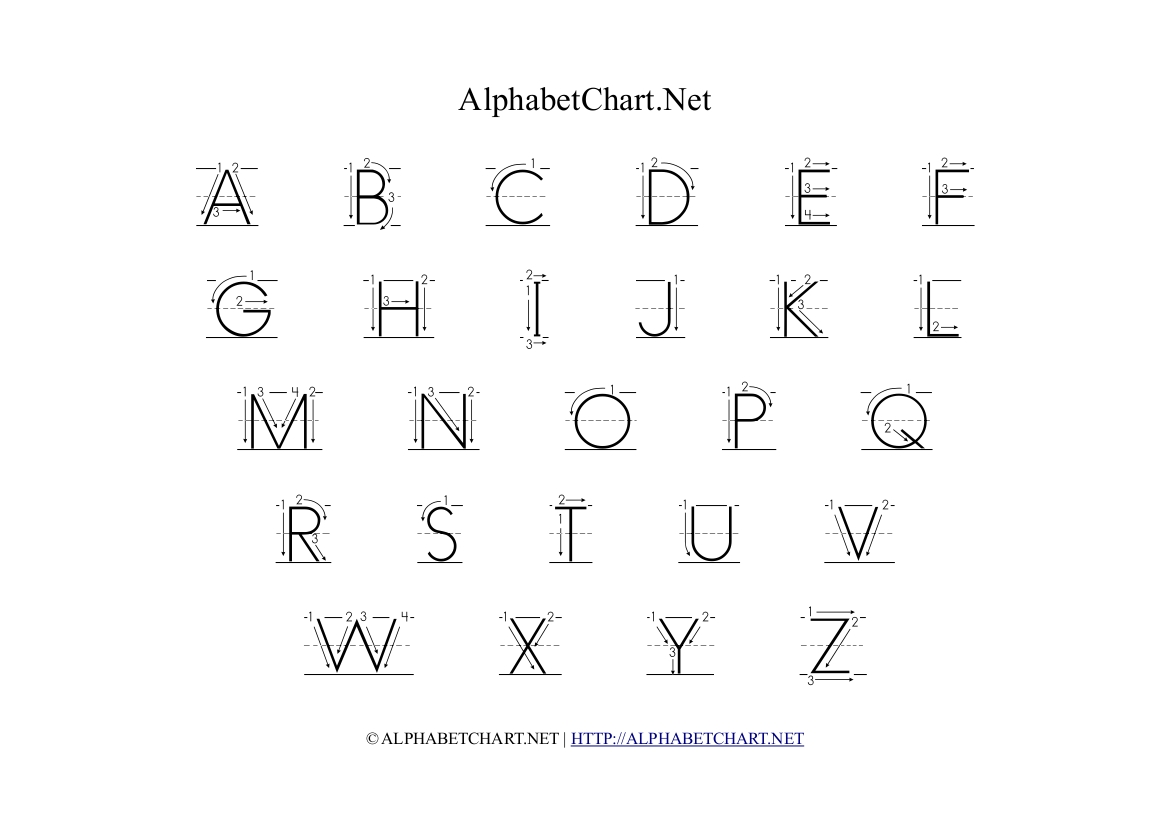 6 Best Images Of English Alphabet Chart Printable