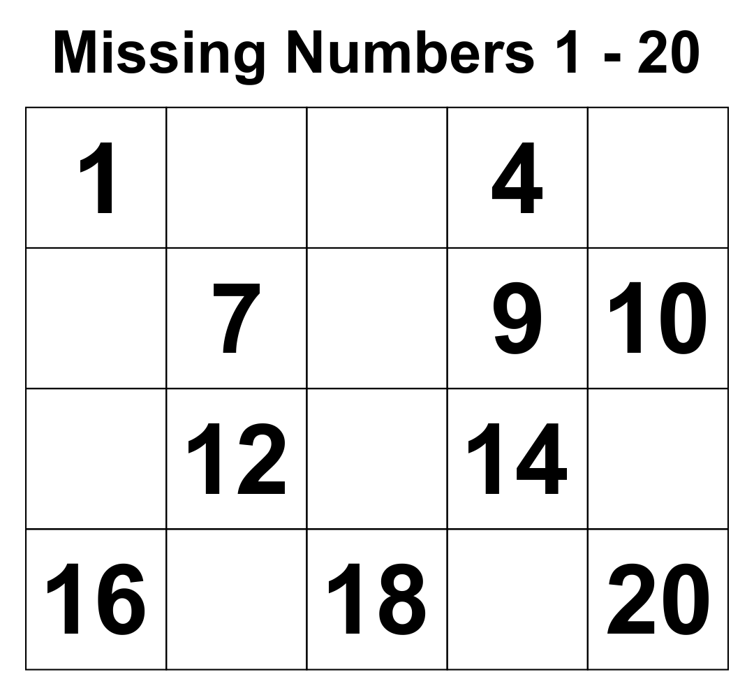 5 Best Images Of Writing Numbers 1 20 Printables