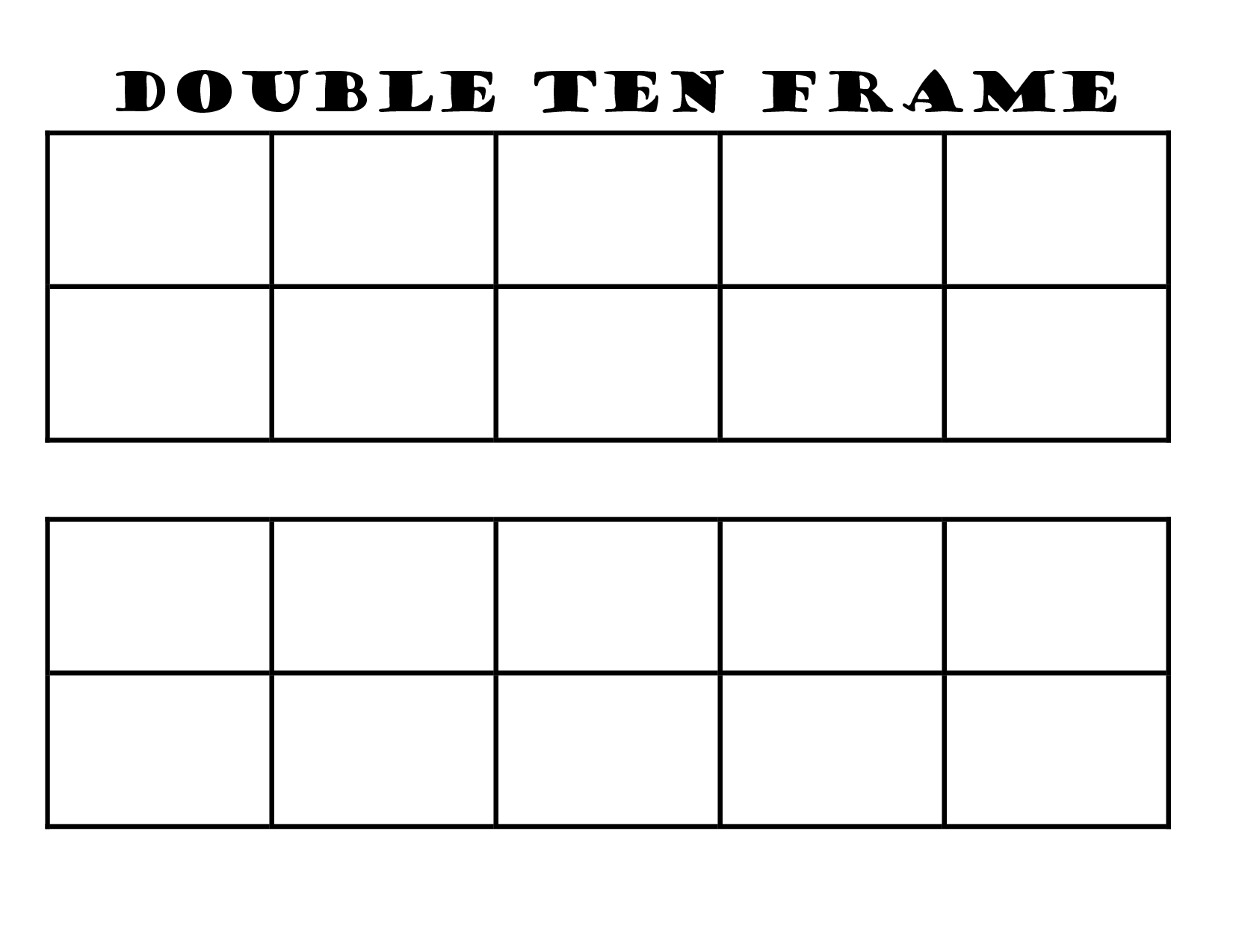 6 Best Images Of 10 Frame Template Printable