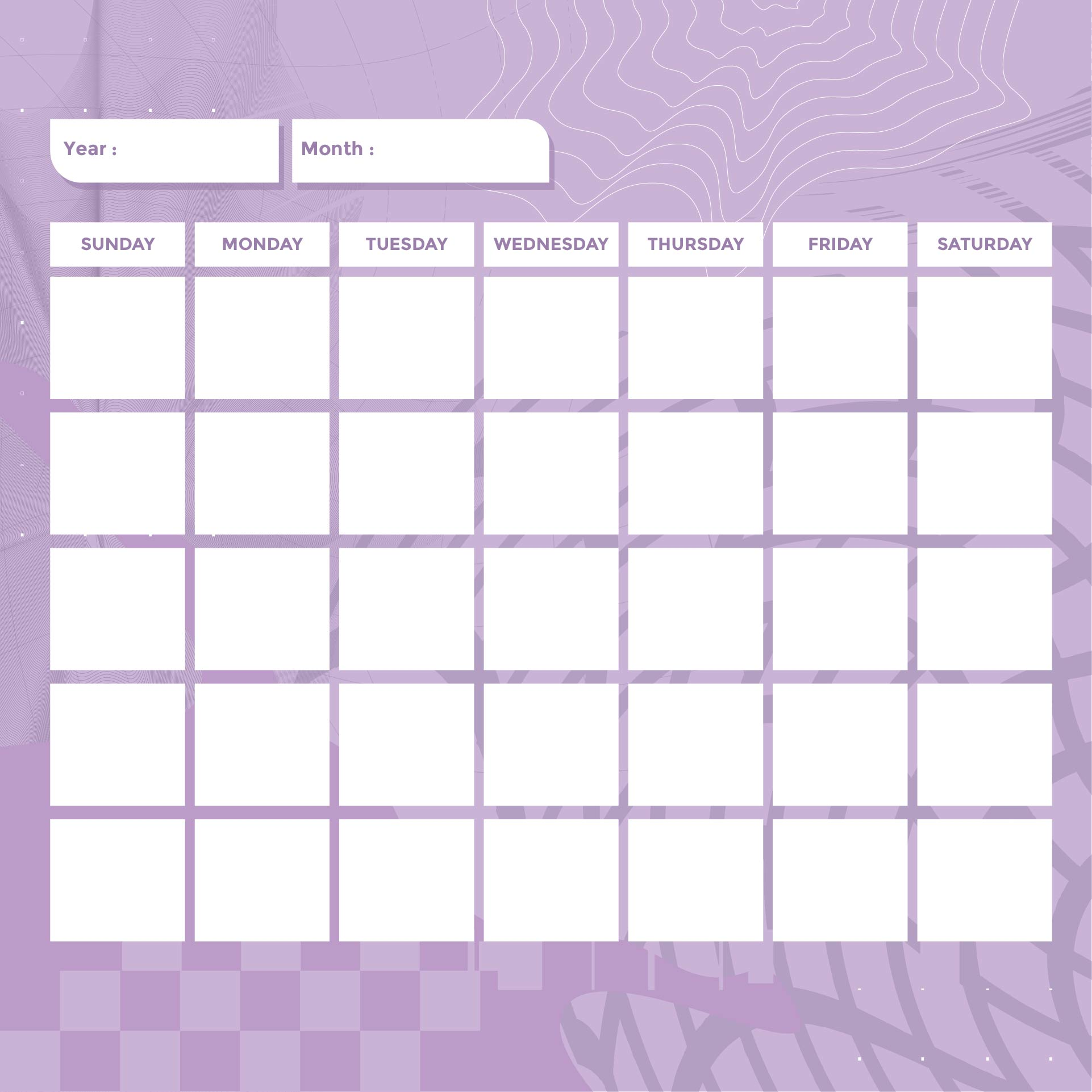 8 Best Images Of Monthly Calendar Printable