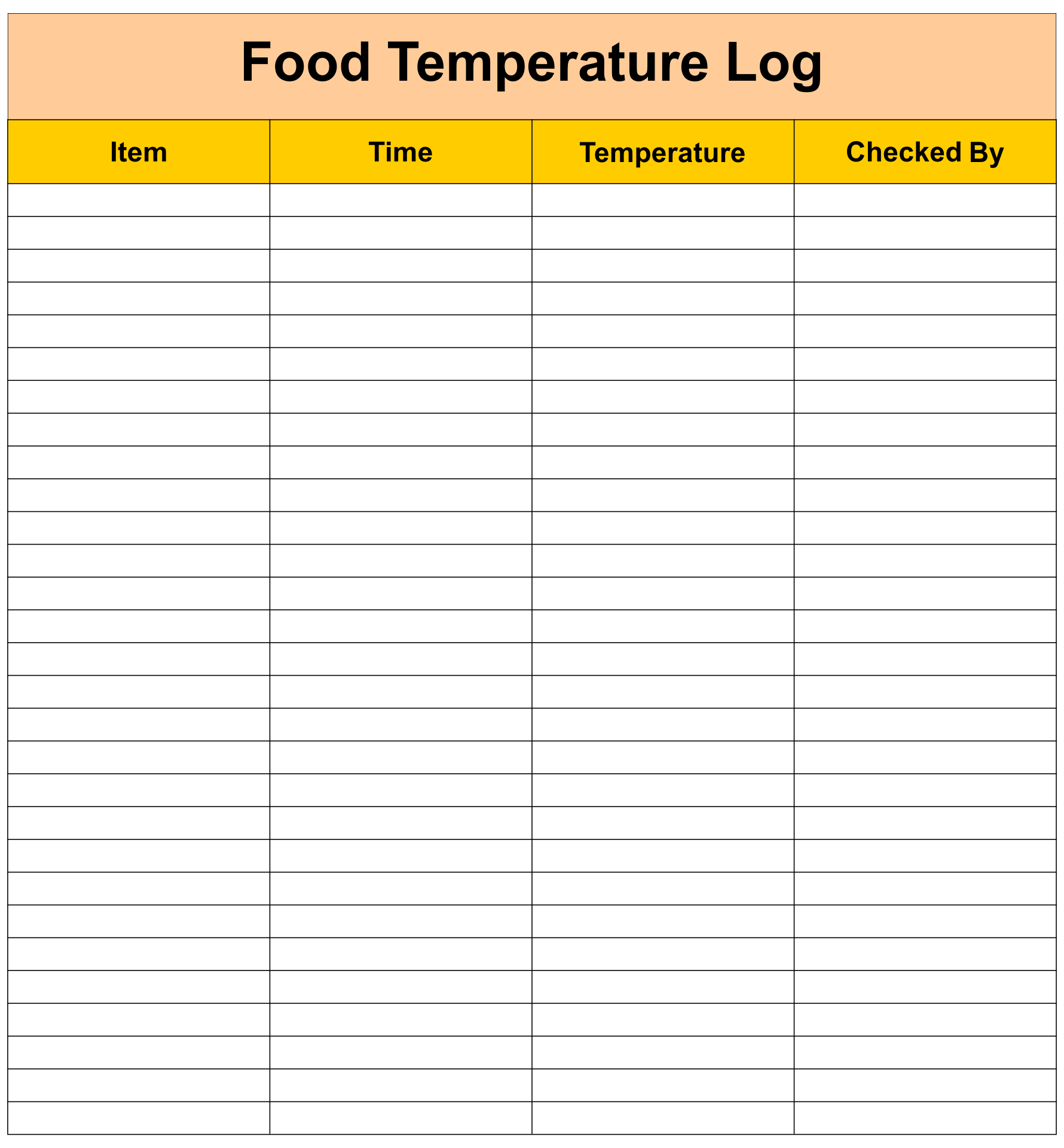 7 Best Images Of Printable Food Temperature Chart