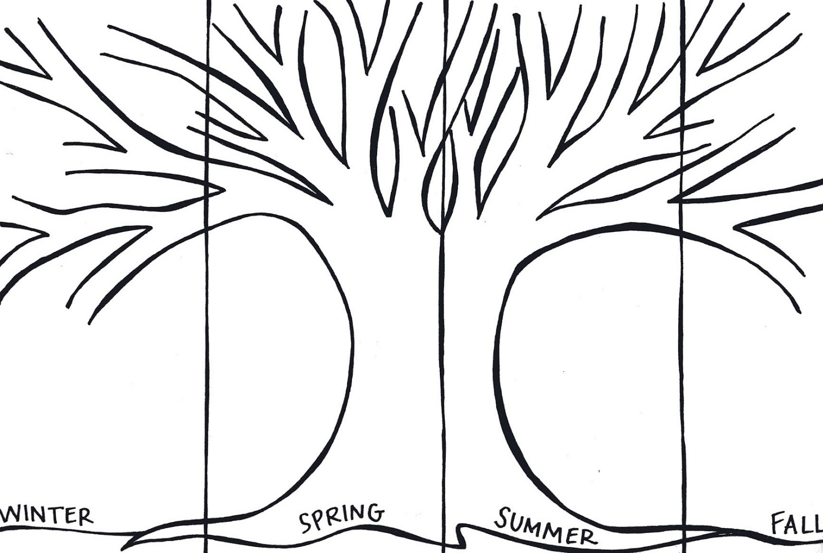 6 Best Images Of Spring Printable Tree Templates
