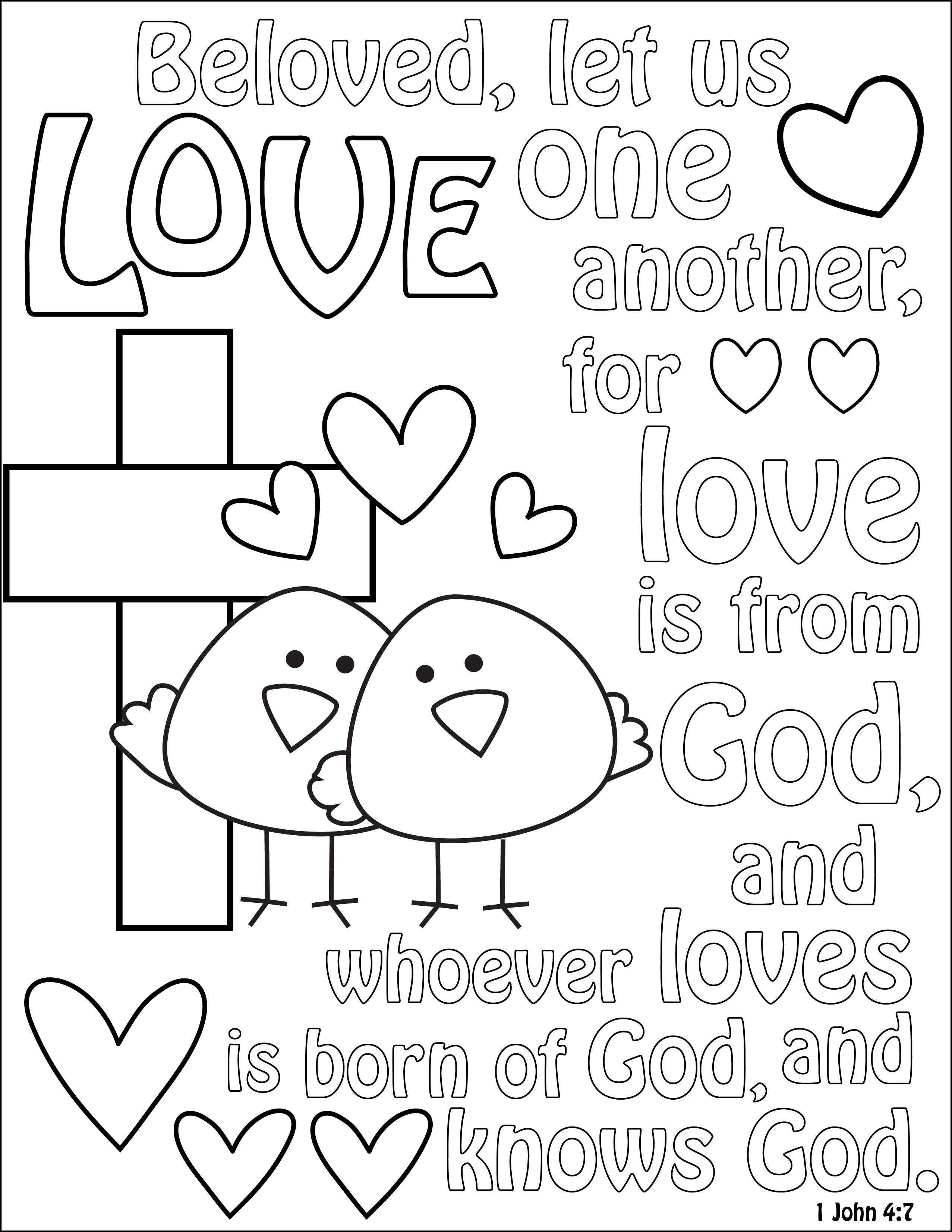 Love Like Jesus Coloring Sheet Coloring Pages