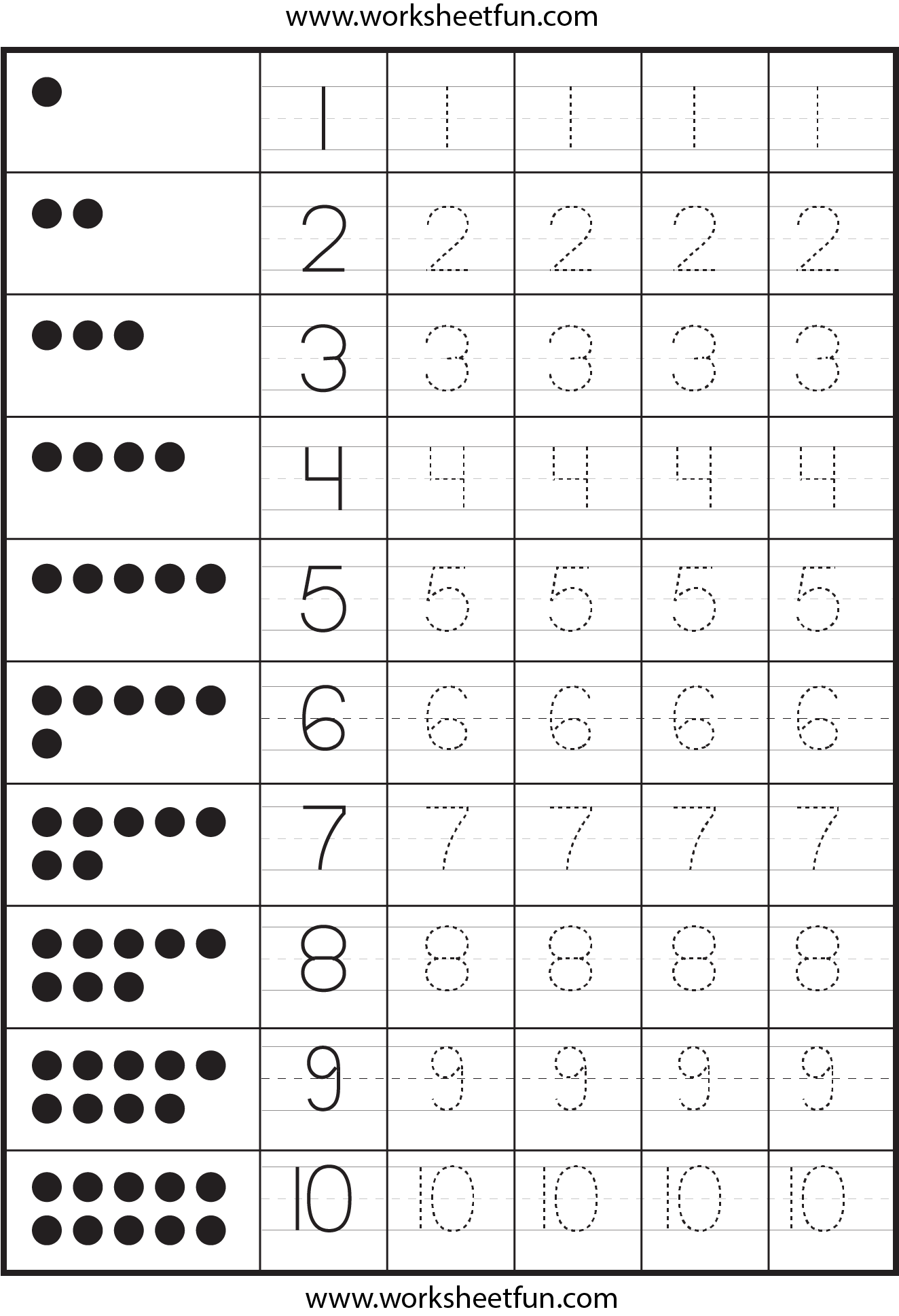 7 Best Images Of Free Printable Worksheets Numbers 1 10
