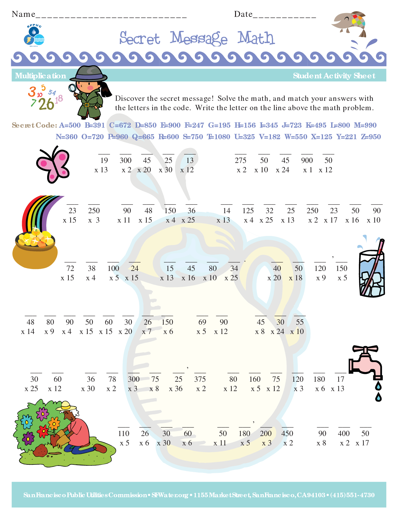 Secret Messages Worksheet Hard