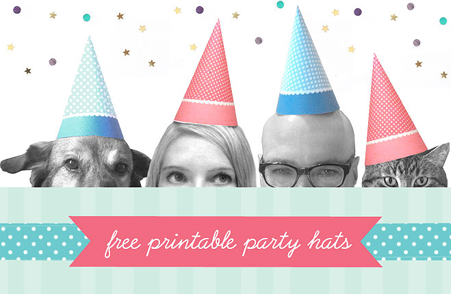 Printable Party Hats Dogs