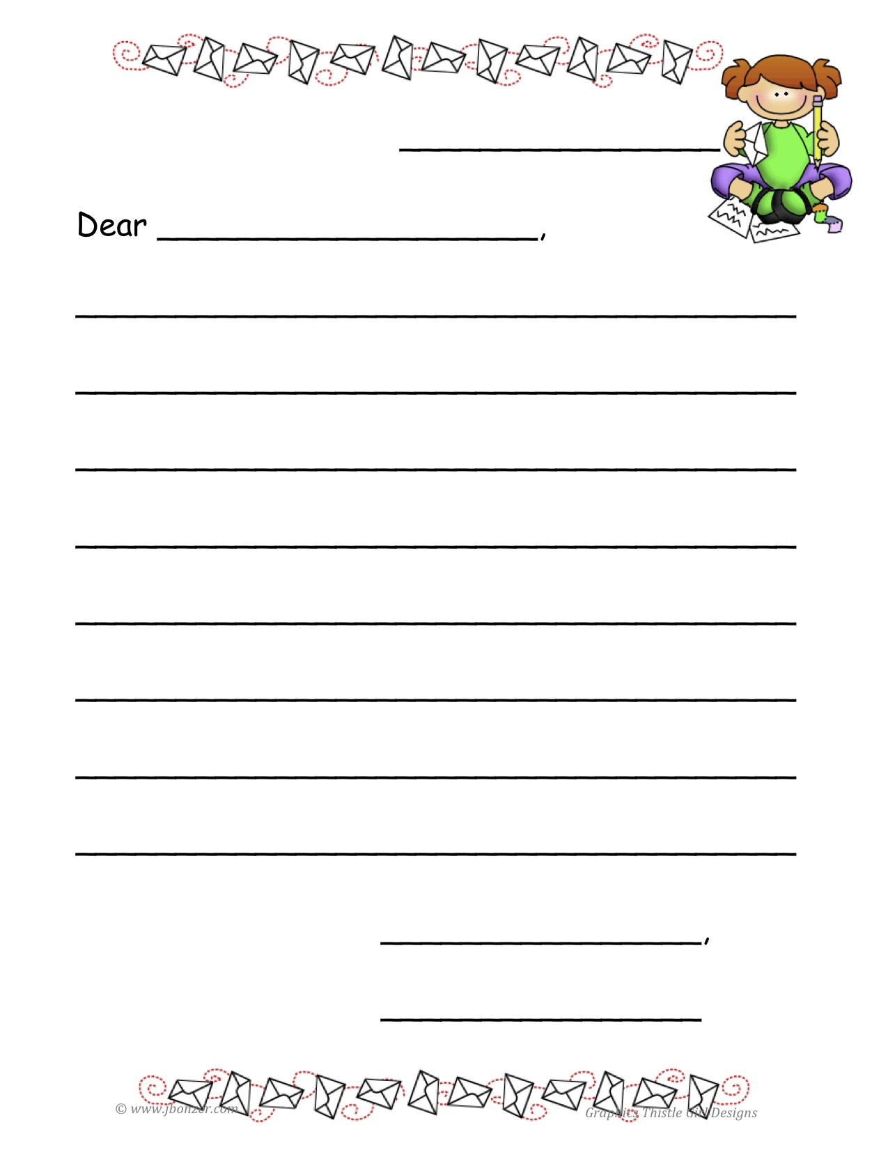 Free Printable Writing Paper For Elementary Students