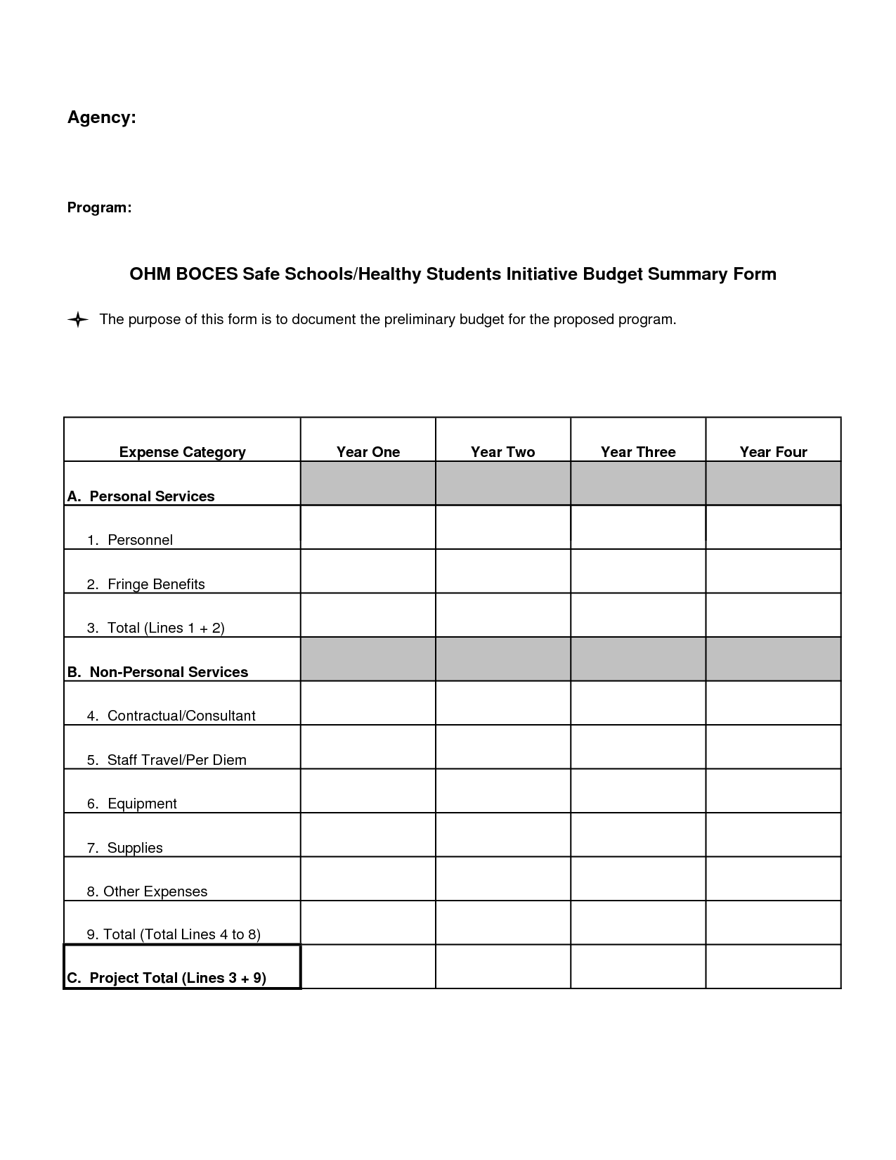8 Best Images Of Blank Budget Template Printable