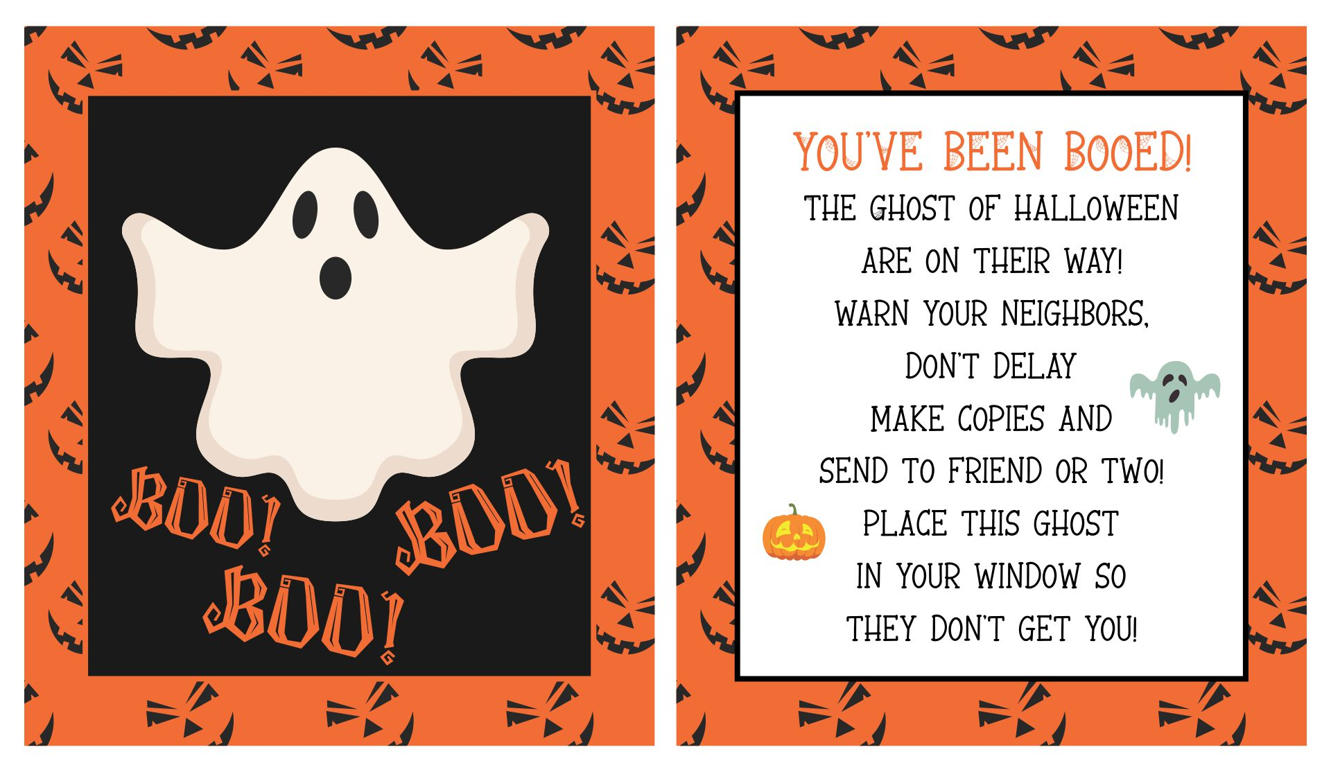 6 Best Images Of Halloween Booing Printables