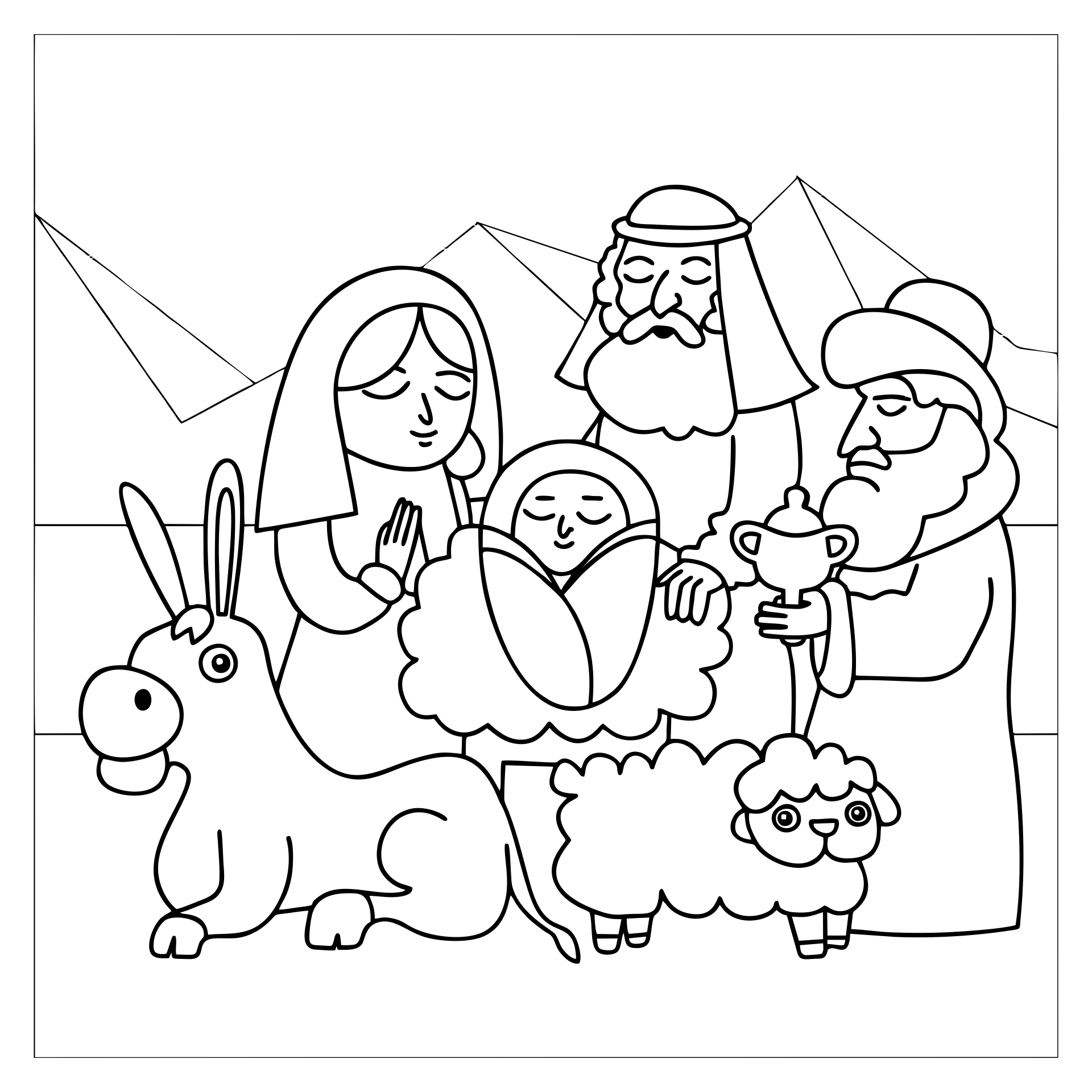 7 Best Images Of Nativity Story Printable Book Printable