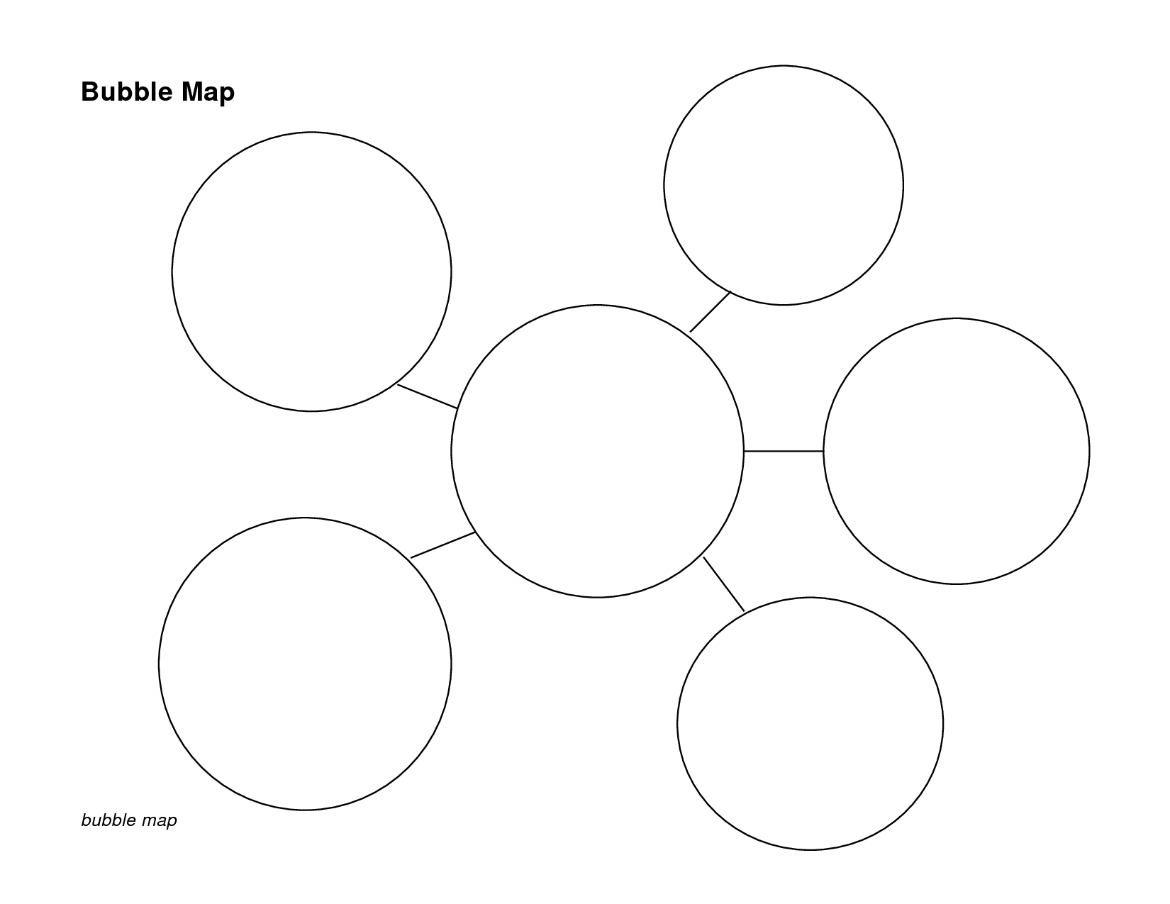 5 Best Images Of Bubble Graphic Organizer Printable