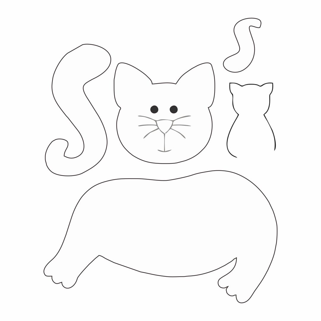 6 Best Images Of Free Printable Sewing Patterns Cat