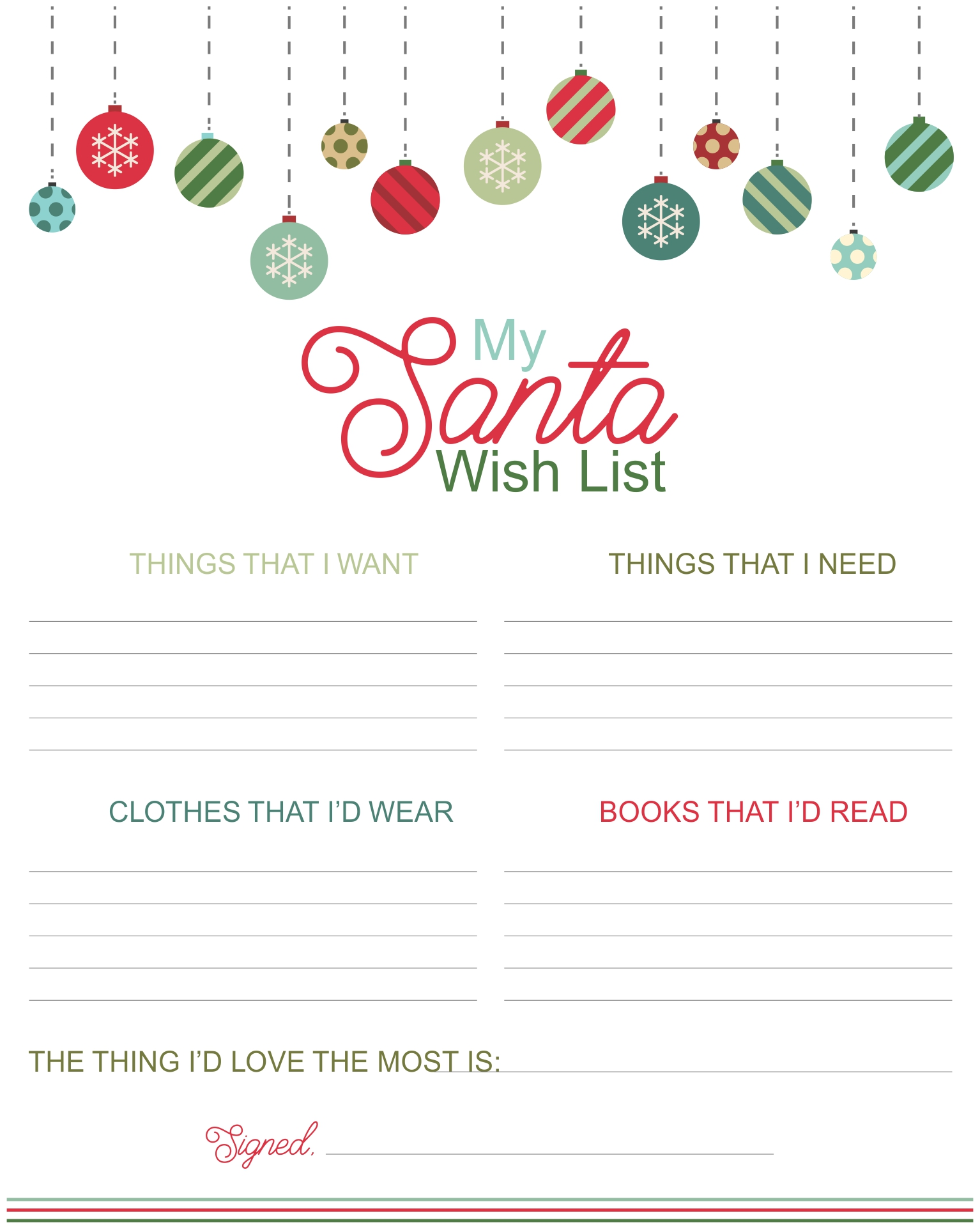 6 Best Images Of Printable Christmas T Wish List