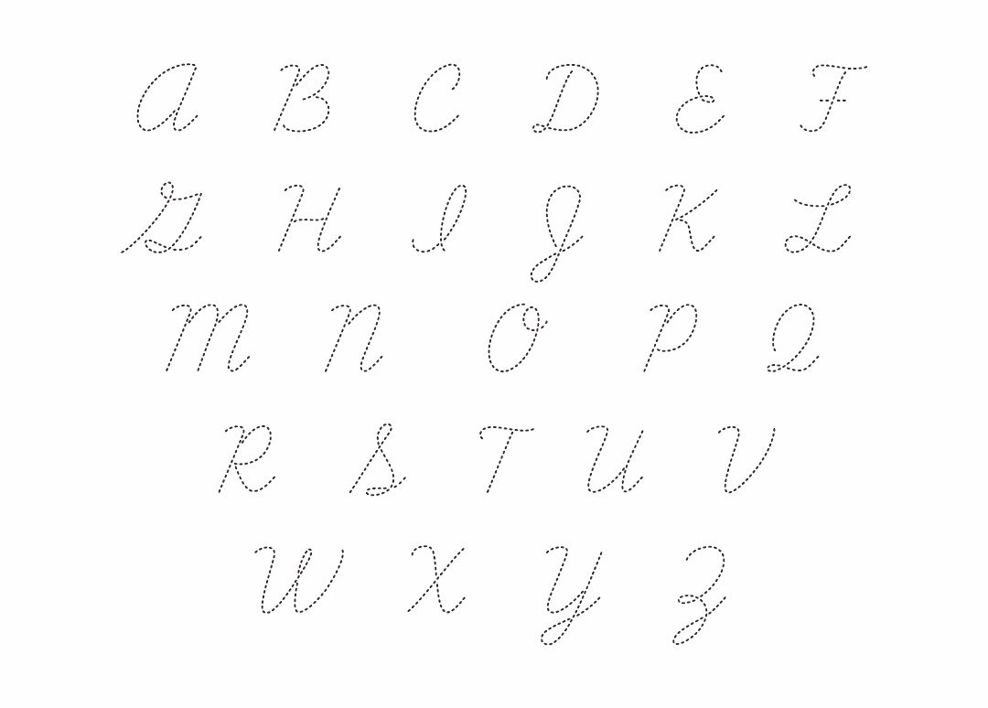5 Best Images Of Printable Cursive Alphabet