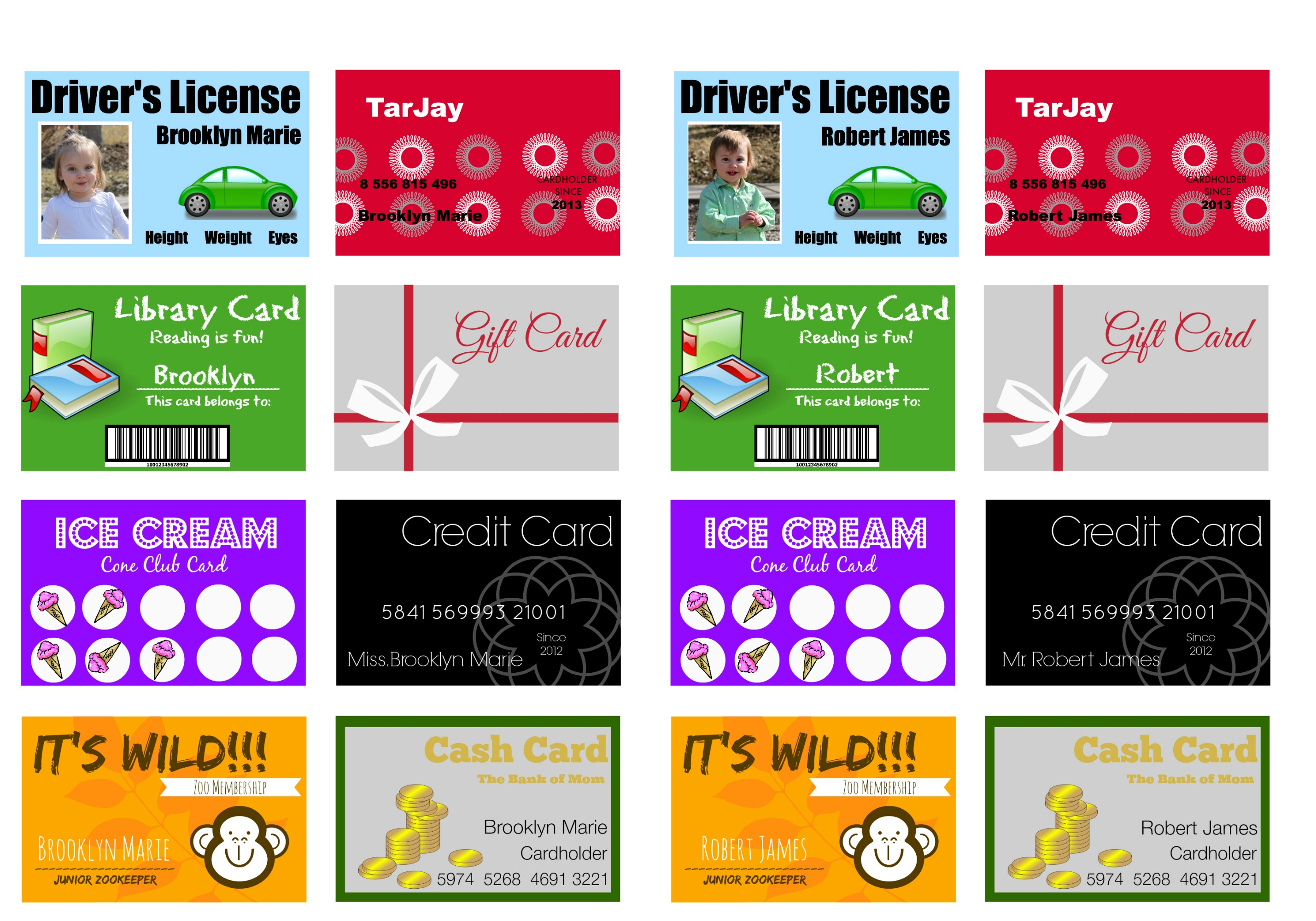 7 Best Images Of Credit Card Printables For Dolls