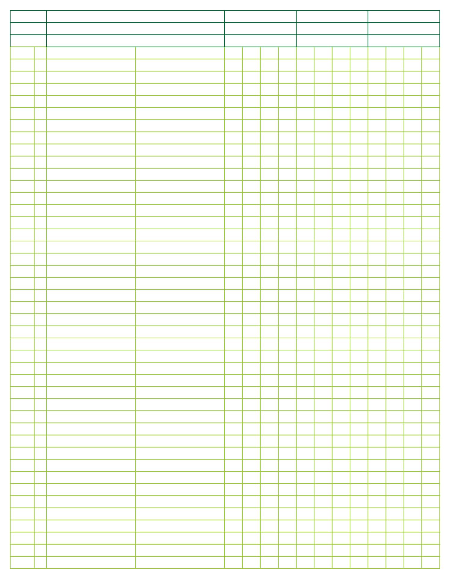 9 Best Images Of 3 Column Spreadsheet Printable