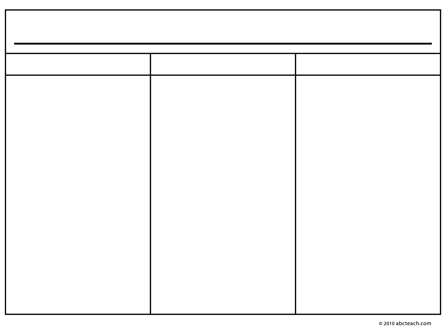 6 Best Images Of Printable Blank 3 Column Chart