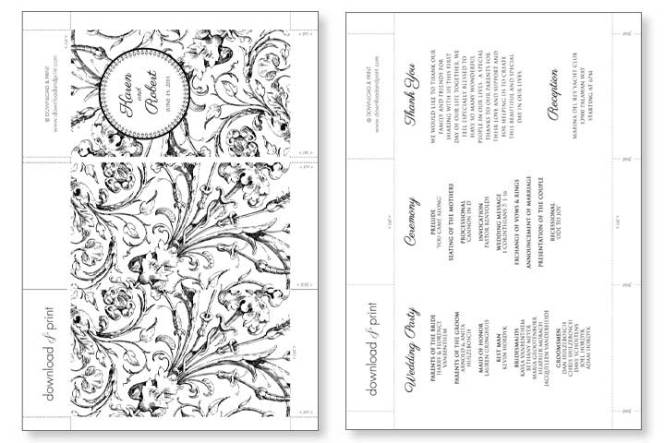 Fan Wedding Program Templates Free Wedding Invitation Sample – Programs Templates Free