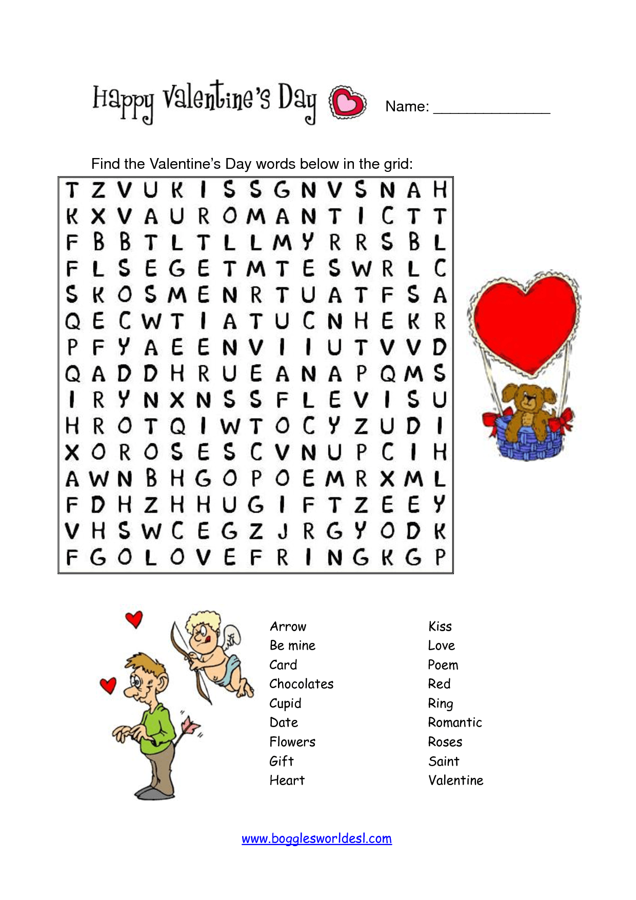Valentine Crossword