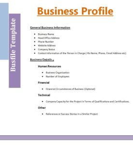 Business Profile Request Form