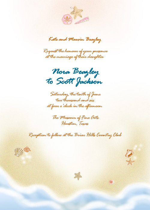 42 Beautiful Beach Wedding Invitations Showcase For Your