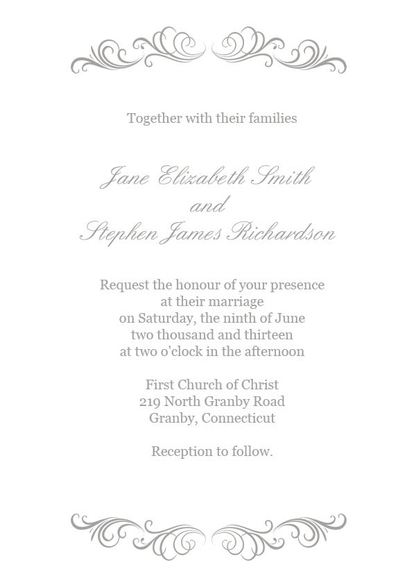 Wedding Invitation Flourish Simple Flourished Header