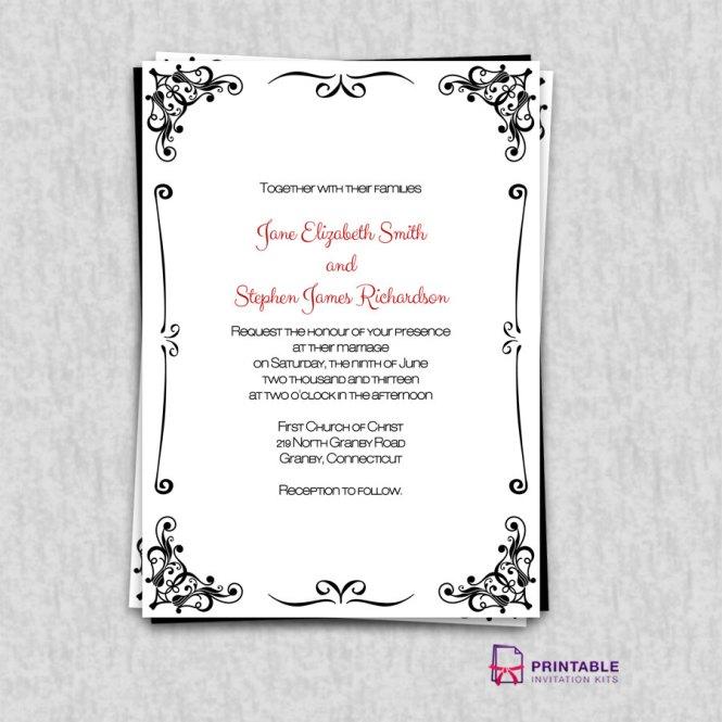 Clipart Invitation Borders Templates Vintage Scroll Wedding