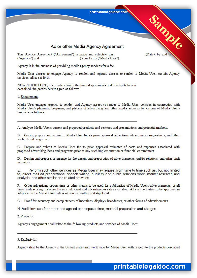 Image Result For Artist Agent Contract