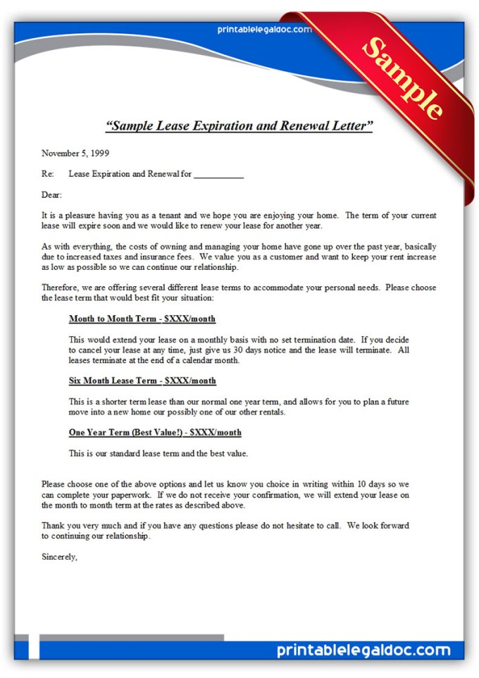 Tenancy Agreement Renewal Letter Sample Malaysia Textpoems