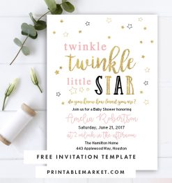 twinkle twinkle baby shower collection
