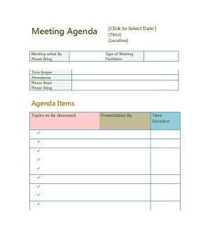 This gives every individual scheduled to be in. 67 Free Printable Meeting Agenda Templates In Ms Word Format