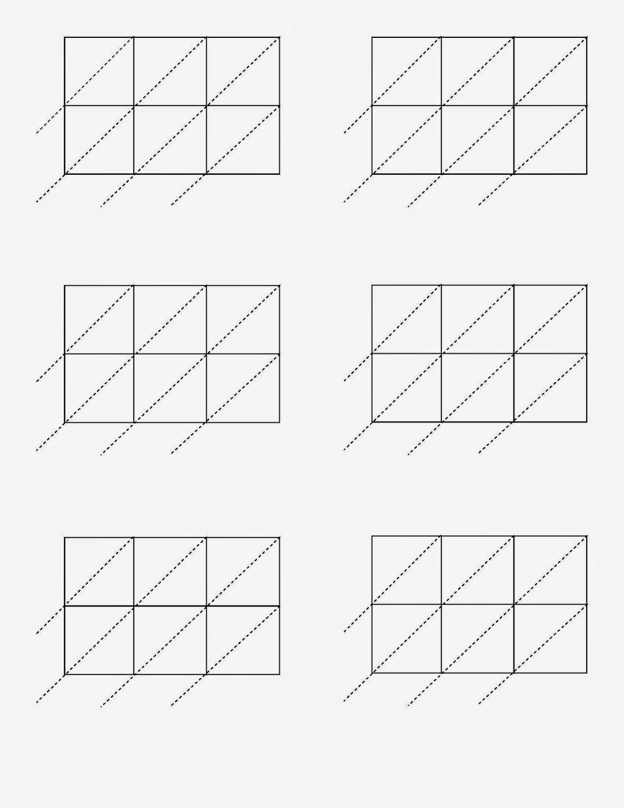 Free Printable Lattice Multiplication Grids