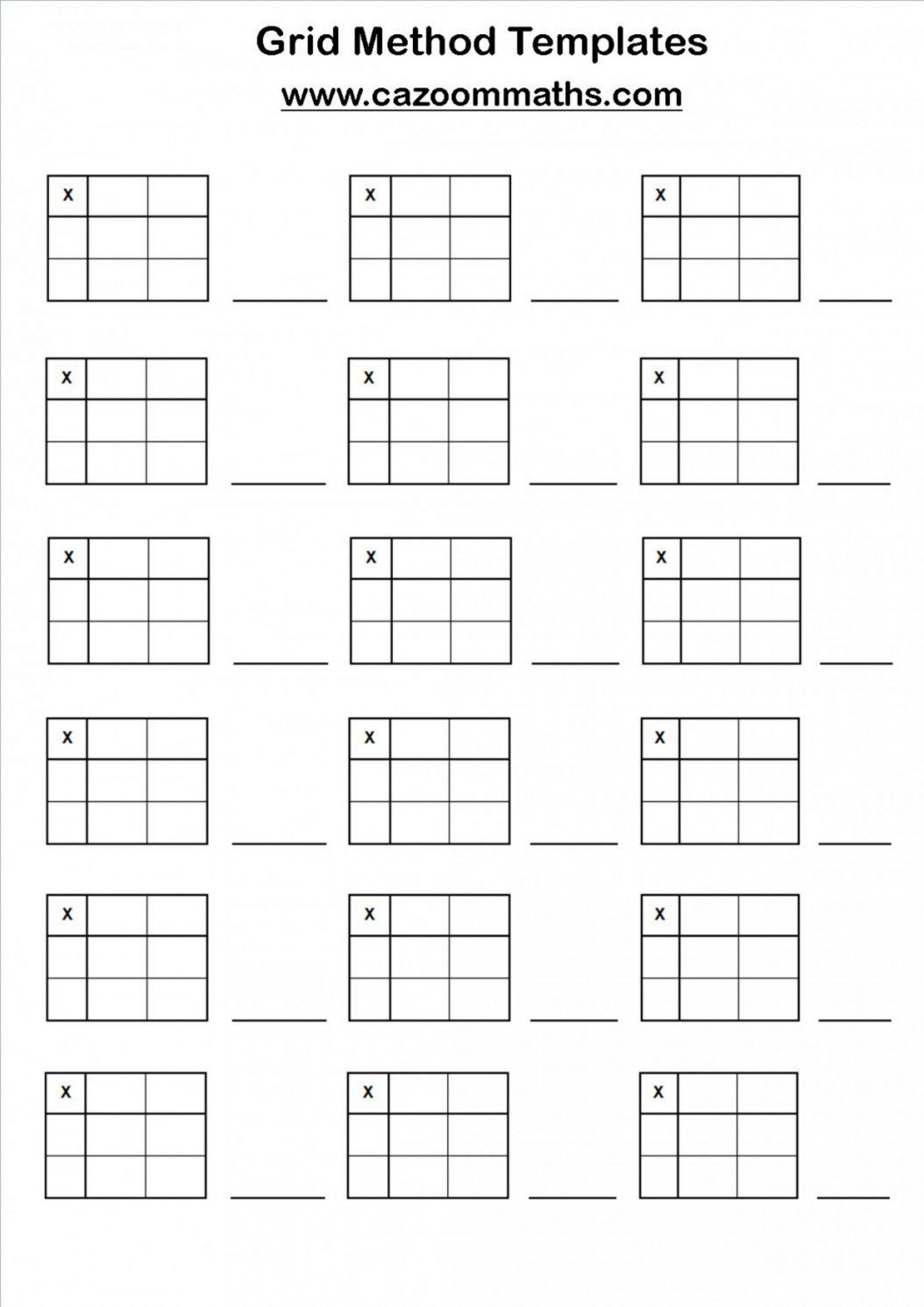 Printable Multiplication Grid Worksheet Generator
