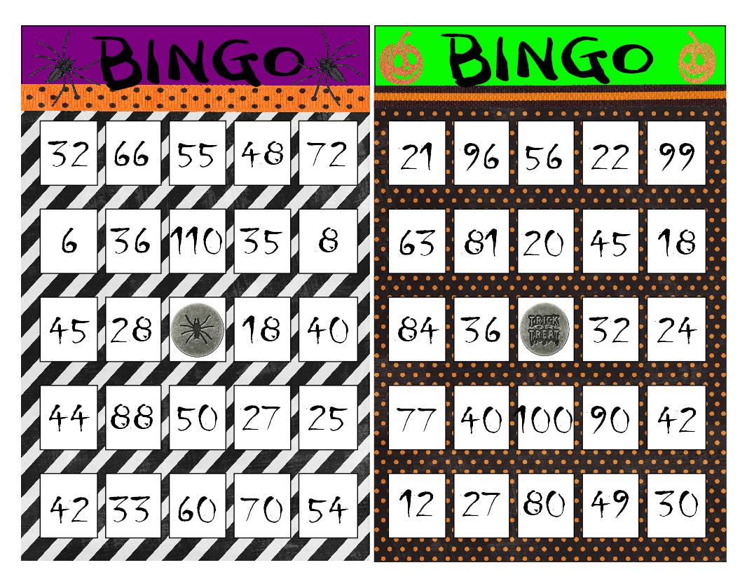 Printable Multiplication Bingo Game