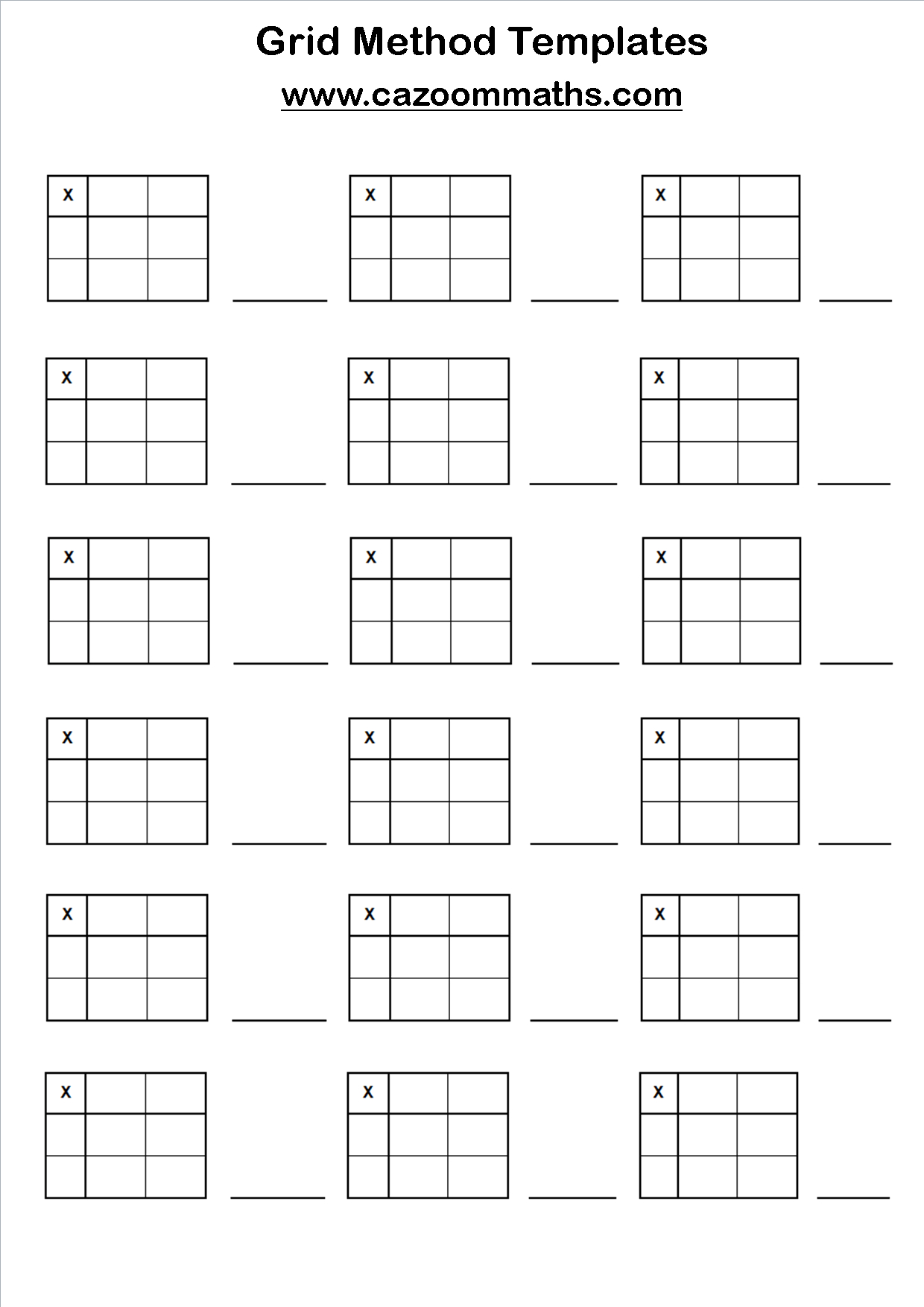 Multiplication Worksheets Ks4