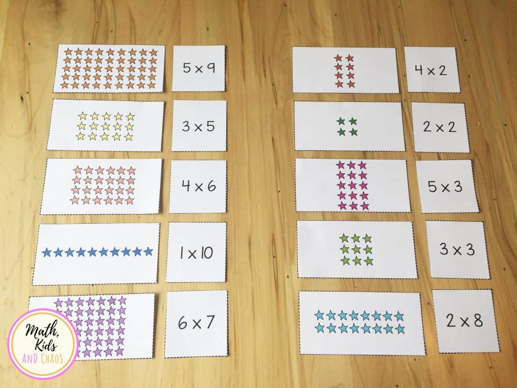 Printable Multiplication Matching Game