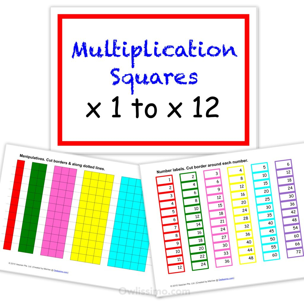 Printable Multiplication Strips