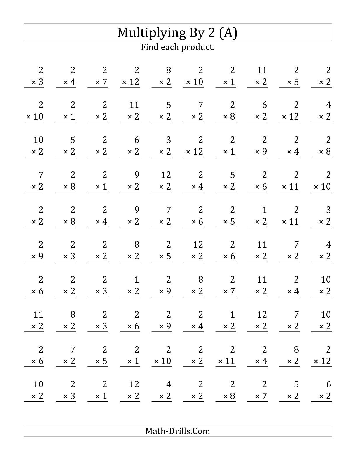 The Multiplying 1 To 122 A Math Worksheet From The