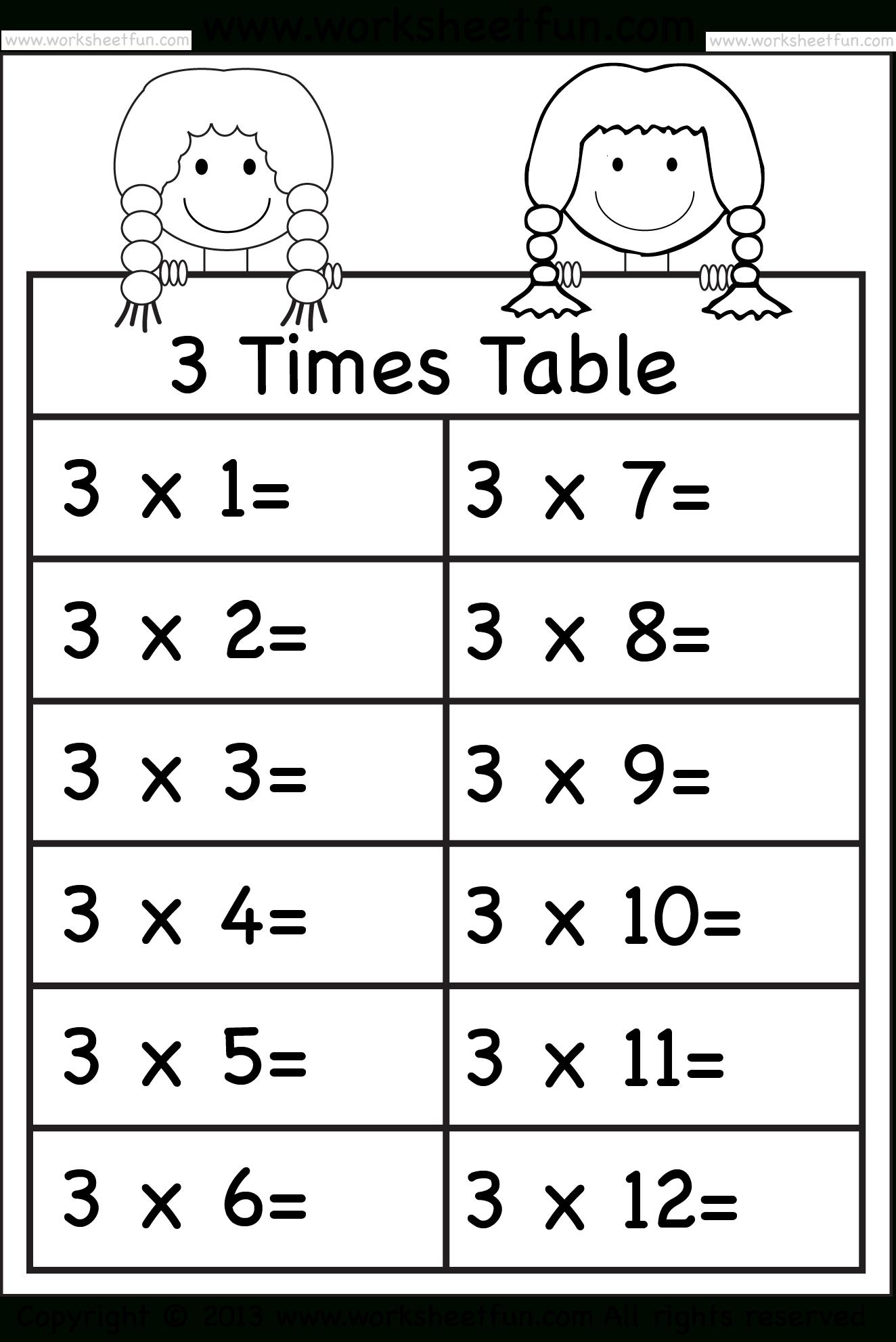 Multiplication Worksheets 5 6 7