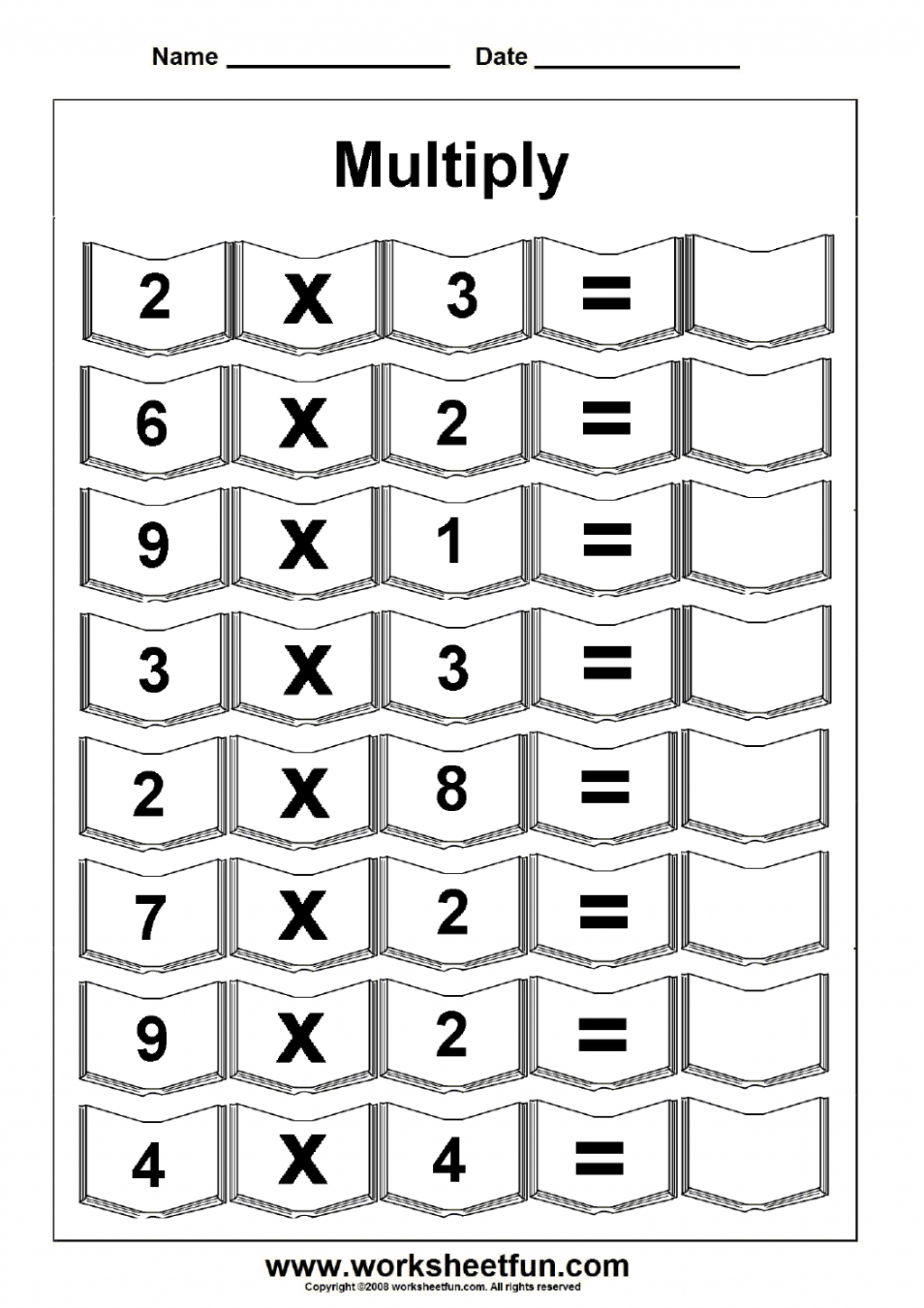 Multiplication Worksheets Easy