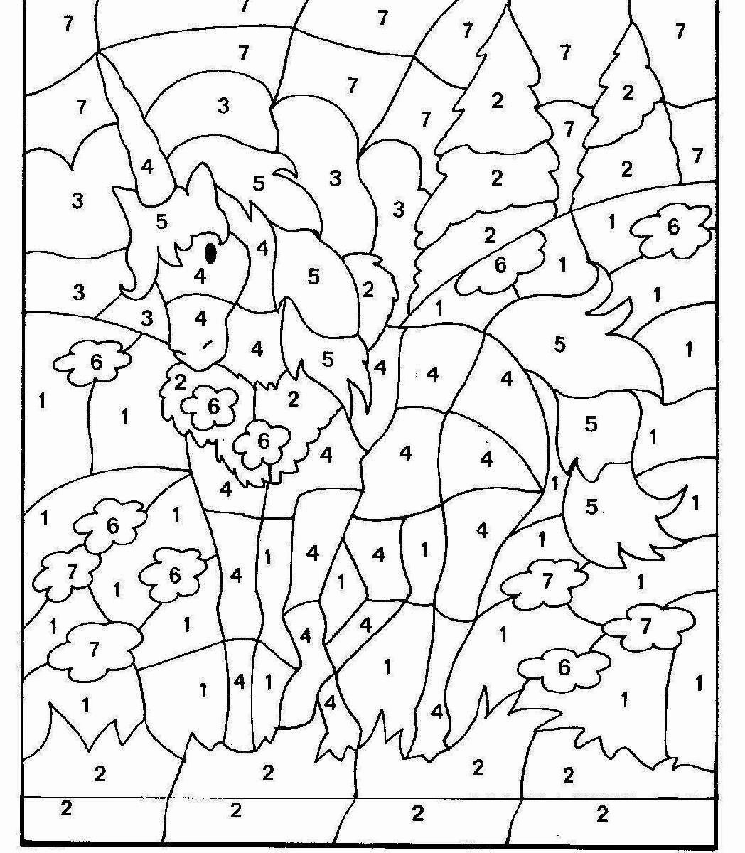 Colormultiplication Printable Coloring Pages Math Number