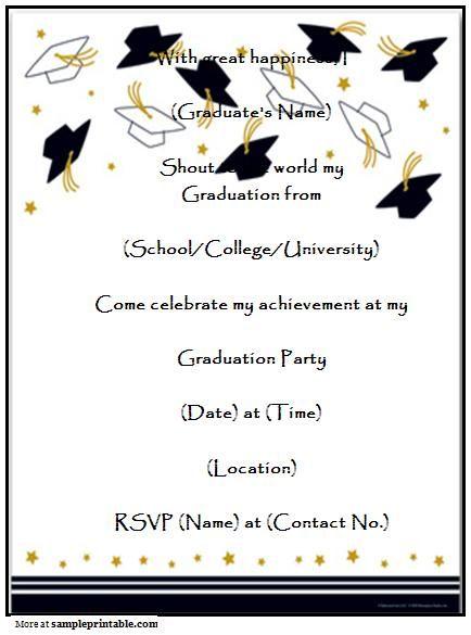 Free Printable Graduation Invitations 2017