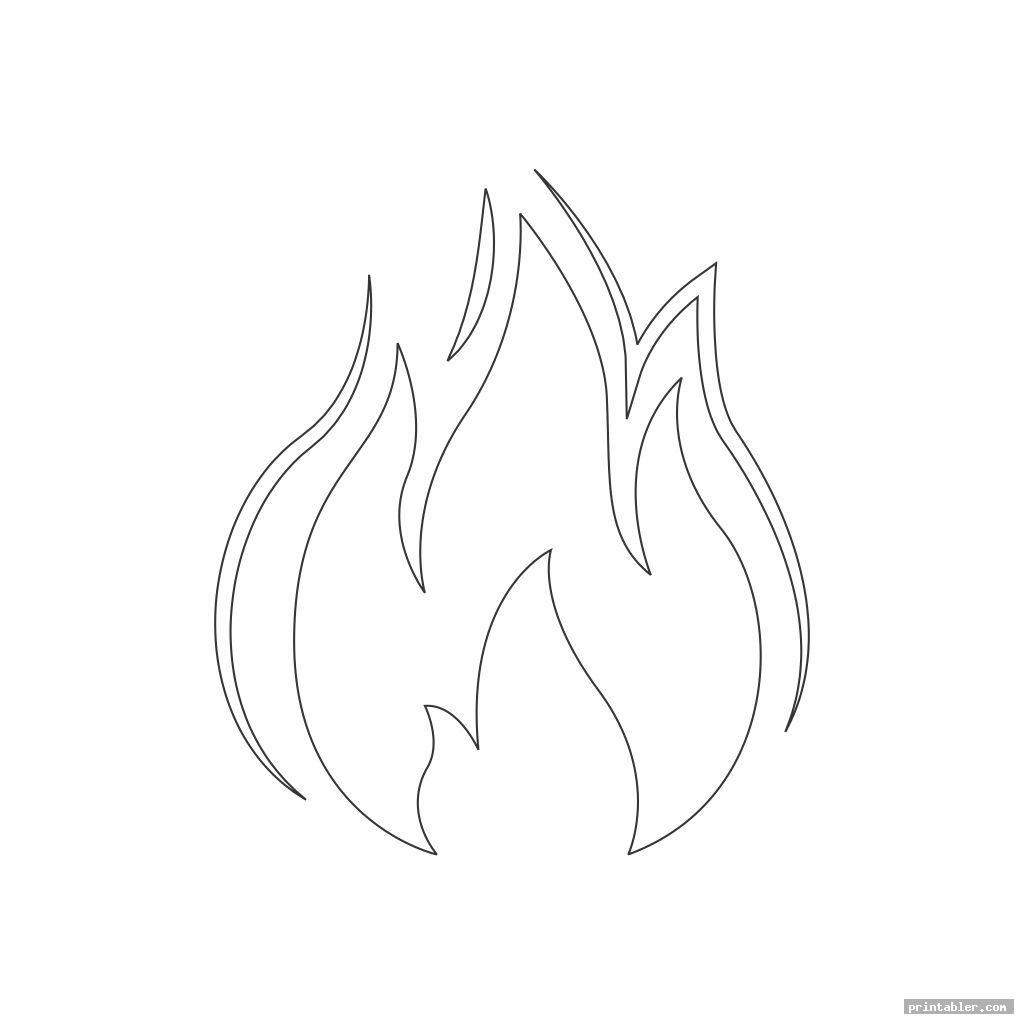 Flame Stencils Printable