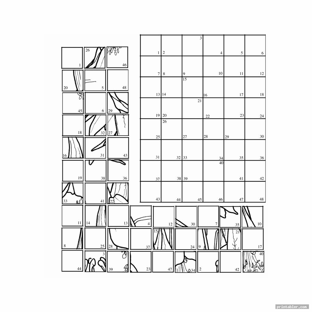 Mystery Grid Drawing Printable