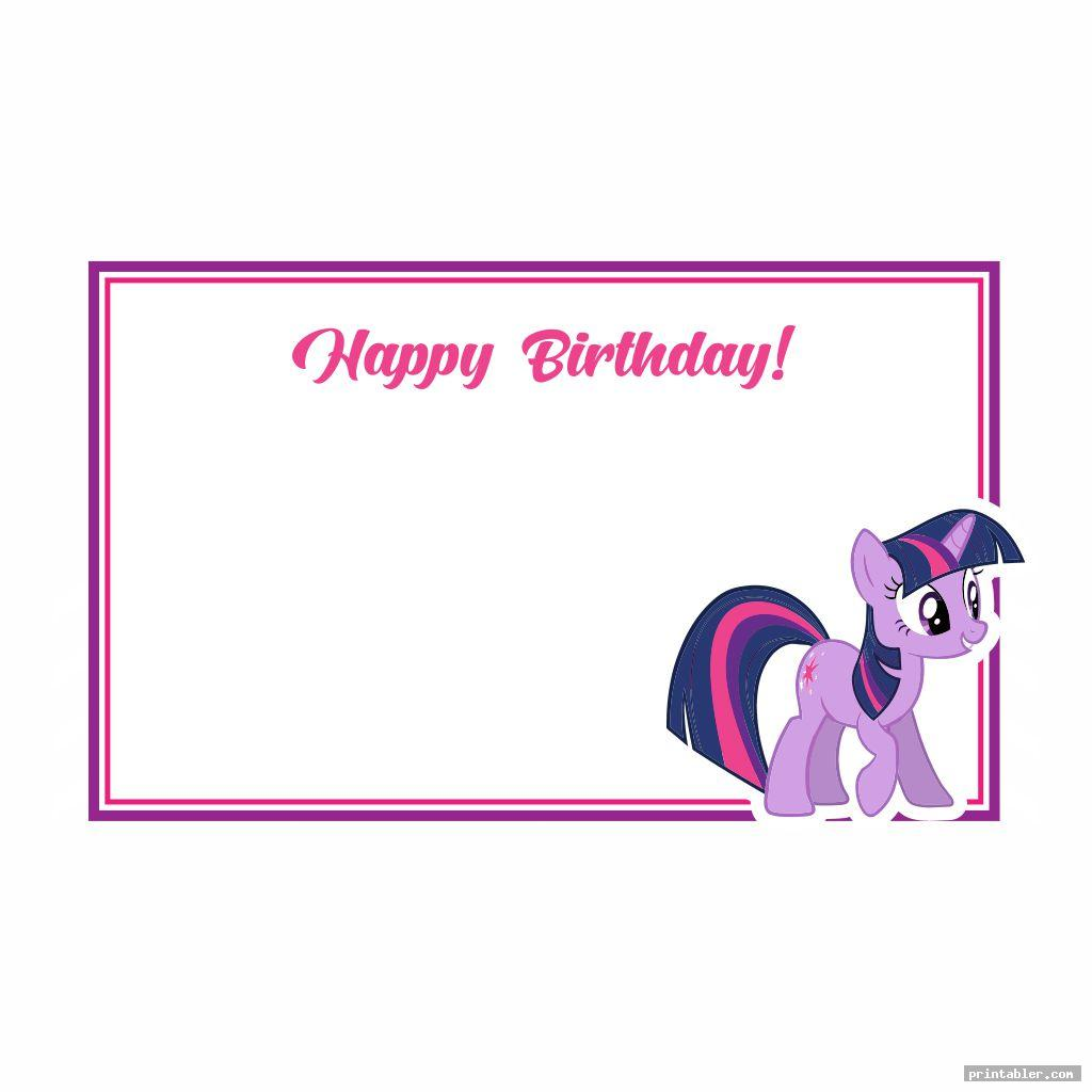 My Little Pony Birthday Printables