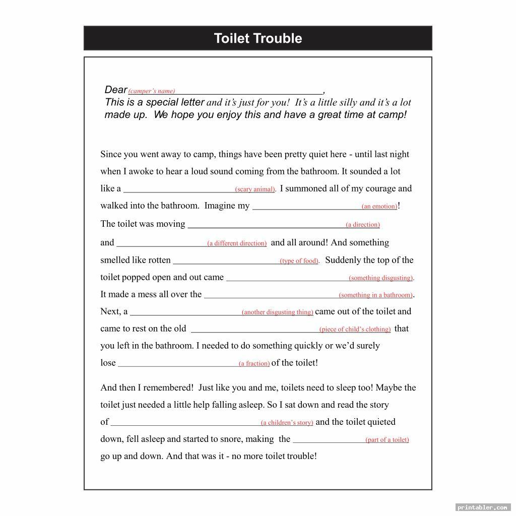 Best Madlibs Printable