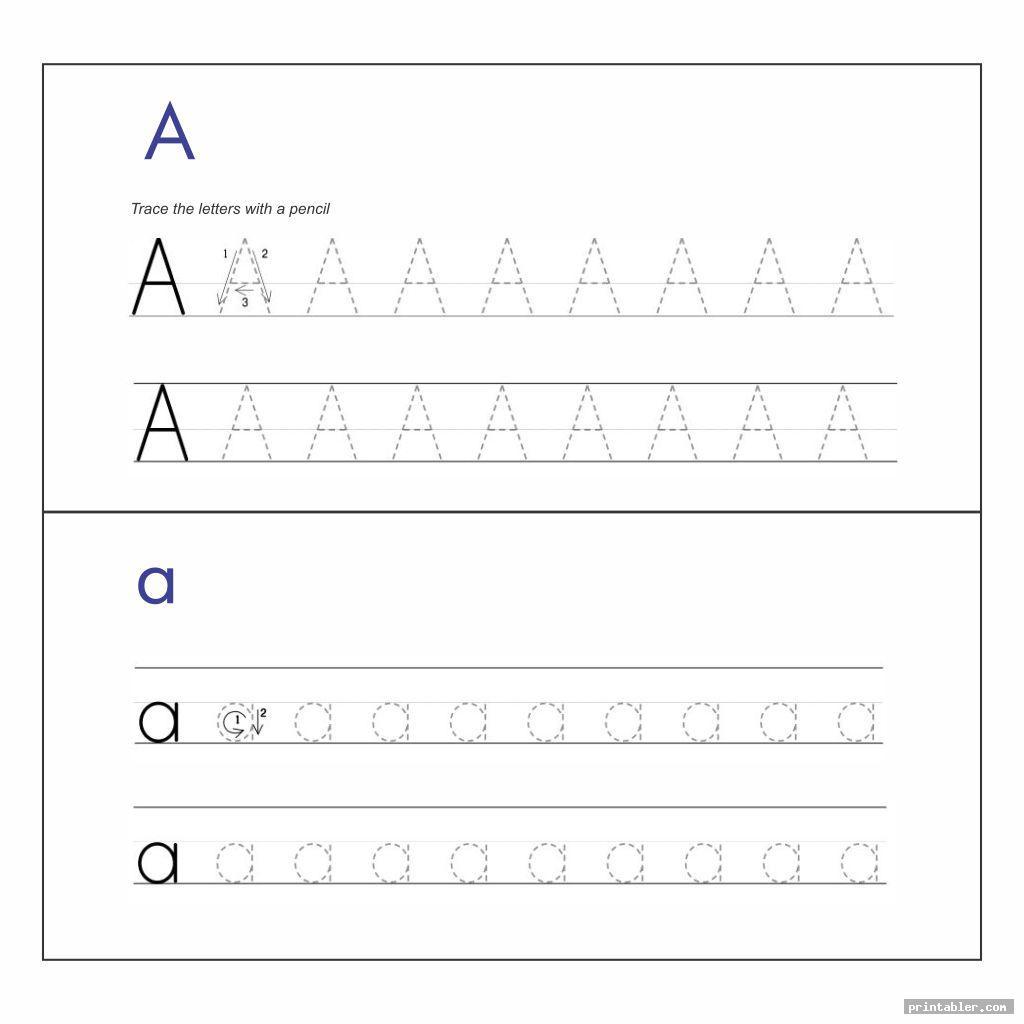Printable Traceable Alphabet Worksheets