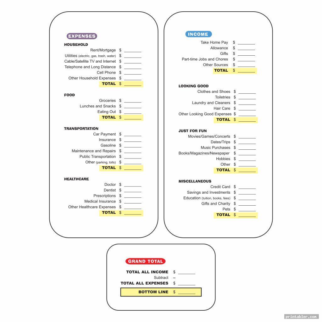 Printable Dave Ramsey Budget Worksheets